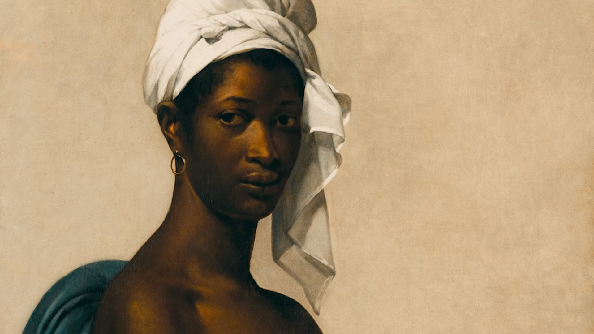 Portrait of a Black Woman by Marie-Guillemine Benoist in JAY-Z and Beyonce's APES**T Music Video
