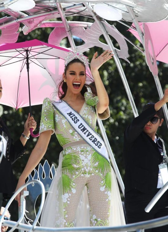 LOOK: Here's What Catriona Gray Wore For Her Homecoming Parade