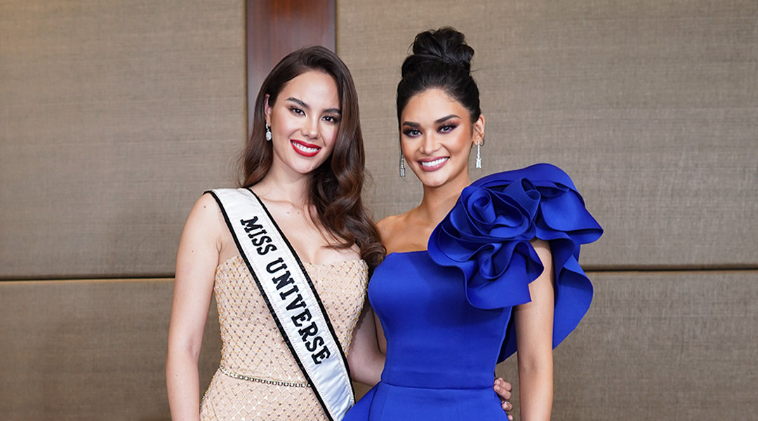 Catriona Gray and Pia Wurtzbach Join Forces In Miss Universe