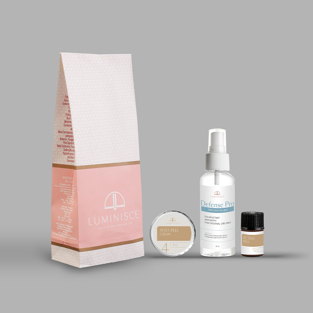 Luminisce Pits Perfect Peel At-Home Kit products